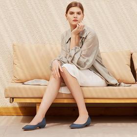 【为舒适而生】WAYNE FLEX 韦恩2020新款春季尖头低跟 女士休闲浅口一脚蹬 单鞋 1158