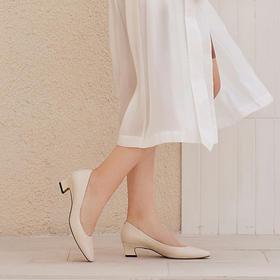 【为舒适而生】WAYNE FLEX 韦恩2020年新款 浅口尖头 办公室小皮鞋 粗跟单鞋 2059
