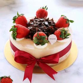 新品4寸巧克力草莓CAKE淡奶油蛋糕丨饭后甜品健康零添加,法国进口淡奶动物奶油制作丨甜度低丨入口即化