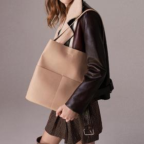 【现货!环保超纤面料 舒适柔软 大容量包包】Michele maggetti托特包 时尚都市百搭通勤大容量托特包