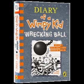 小屁孩日记14 英文原版漫画小说 Diary of a Wimpy Kid Wrecking Ball 精装进口儿童英语课外阅读章节书 杰夫金尼 英文版原版书籍