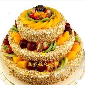 绚丽多彩(三层水果蛋糕)