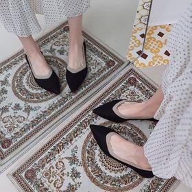 气质百搭基础款【尖头编织平底鞋】舒适平跟 拼接编织 秀气包脚 透气舒适
