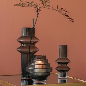 现代简约透明玻璃花瓶摆件设北欧轻奢风客厅家居餐桌插花装饰品