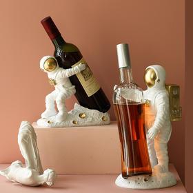 北欧轻奢风宇航员酒架摆件家居客厅创意红酒架太空人酒柜装饰摆设
