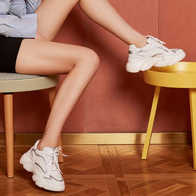 【为舒适而生】WAYNE FLEX 韦恩 2020新款ins潮鞋 时尚百搭 懒人增高厚底老爹鞋 3016