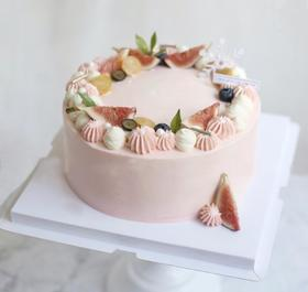 粉红姑娘·无花果鲜果蛋糕