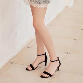 【为舒适而生】WAYNE FLEX 韦恩2020新款细跟凉鞋 进口羊皮 时尚简约 气质优雅4108