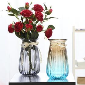 欧式条纹玻璃花瓶