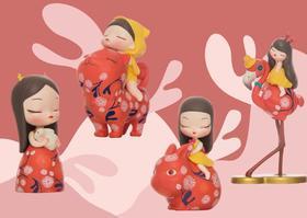 潮玩手办《白夜童话·Lite·超美丽限量套装》贾晓鸥 8×6.4×3.4cm