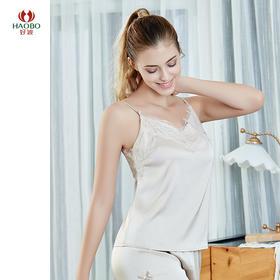 好波女士蕾丝花边仿丝小吊带宽松打底吊带衫HBX2010