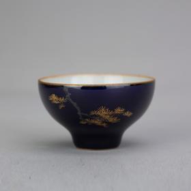 松枝描金杯
