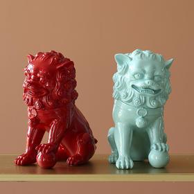 新中式狮子摆件客厅办公室装饰镇宅辟邪家用开业礼品招财工艺品