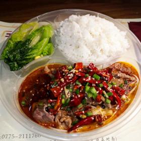 【餐饮外卖】香辣水煮牛肉饭