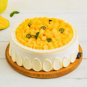 【宁乡 暖阳芒芒蛋糕】嫩滑多汁芒果肉搭配Q弹芒果果冻,轻咬一口,果香直击心脏