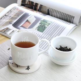 《我爱上海》玲珑杯+白牡丹茶饼