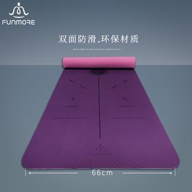梵茂tpe瑜伽垫防滑 女初学者男健身加厚加宽加长瑜珈垫子地垫家用