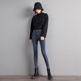 【现货!72小时发货!高腰小脚裤 九分裤 舒适 时尚】登迈郎 2236女式宽松直筒牛仔裤 舒适 时尚