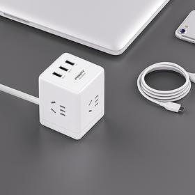 魔方插座KU-43 带USB插座 带线/带插头