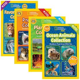 美国国家地理故事4本合集 英文原版 National Geographic Readers