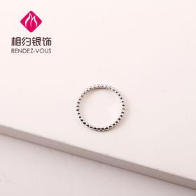 相约银饰S925银戒指连珠戒指