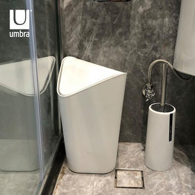 Umbra 进口带盖创意垃圾桶 办公室卧室浴室客厅家用压圈摇盖 注模塑料 桶盖可摇摆