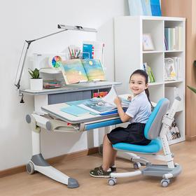优沃实木写字桌 儿童学习桌 可升降书桌椅套装 家用小学生课桌椅
