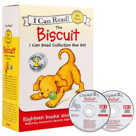 小饼干狗系列第1阶段 原版i can read biscuit 18册+2CD My first