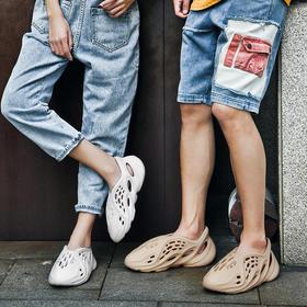 【全橡塑一体成型   品质更放心】潮色豹夏季洞洞鞋情侣款 轻盈材质 细腻柔软