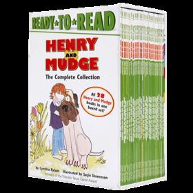 Henry and Mudge Ready to Read Level 2亨利和玛吉套装1-28盒装 英文原版绘本 儿童启蒙英语分级阅读 汪琣珽推荐二阶段英文版进口