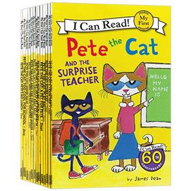 皮特猫绘本13册 英文原版 Pete the Cat I Can Read 分级阅读读物