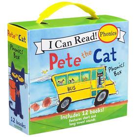 原版 Pete the Cat Phonics Box I Can Read phonics 皮特猫12册
