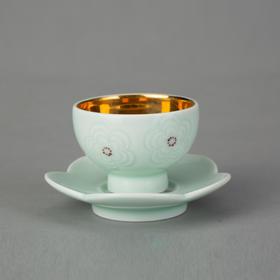 梅花雕刻茶杯套组