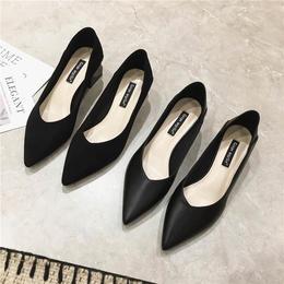 原价568 特卖价119 一奇女鞋 2020新款百搭两穿法粗跟方头中跟单鞋女 MZ131# OU    yf