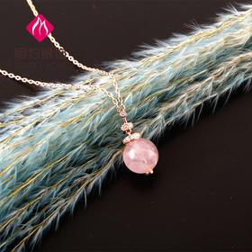 相约银饰天然彩宝系列粉晶套链玻色之境套链