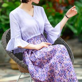OG36135新款名族风印花假两件连衣裙TZF