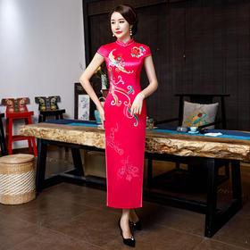 中国风修身开衩改良旗袍【双层丝绸】