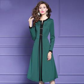 FMY29132新款复古优雅气质修身连衣裙TZF