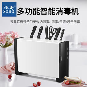 智能消毒机刀筷架厨房用品多功能菜刀架菜板收纳架厨房刀具置物架