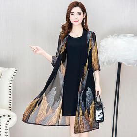 YWE-KED93031新款韩版时尚连衣裙两件套TZF