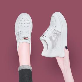 GQTL9886新款时尚蕾丝网纱休闲鞋TZF