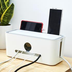 QLSY-0911新款桌面电线排插收纳盒TZF