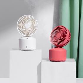 二合一加湿器小风扇静音办公桌面台式小风扇带加湿器