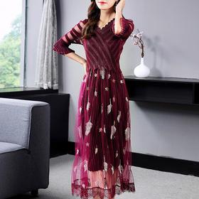SMHC-SM20246新款中国风刺绣连衣裙TZF