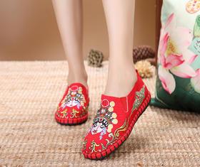 DLCT新款民族风刺绣棉麻老北京布鞋TZF