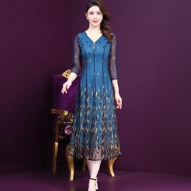 WXY-M1-063-2新款时尚蕾丝刺绣连衣裙TZF