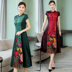 MQ-YSY2015新款时尚印花改良旗袍裙TZF