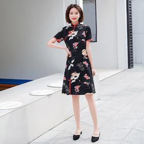 MES3078新款中国风改良旗袍裙TZF