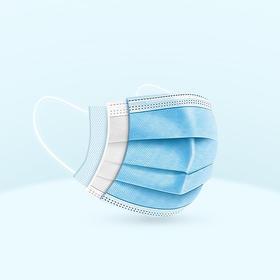 【10个装】一次性防护口罩 高效三层过滤 带熔喷布 一袋装