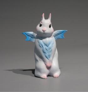 雕塑摆件《小兔子》钱方舟8×3×10.5cm